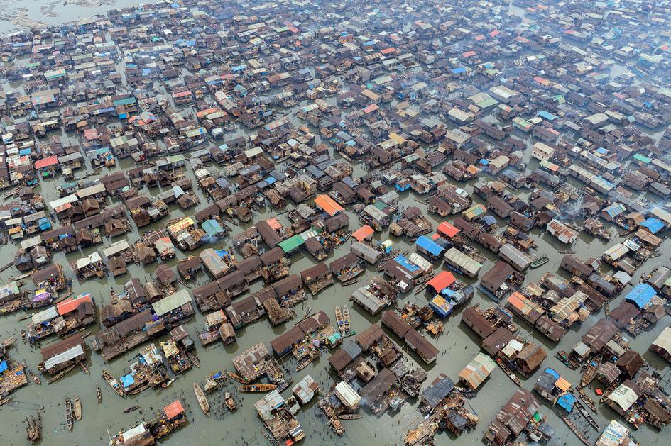 Makoko slum in Nigeria