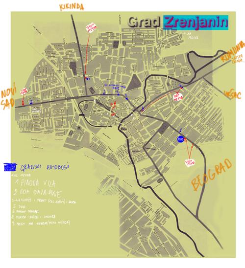 mapa zrenjanina Zrenjanin map mapa zrenjanina